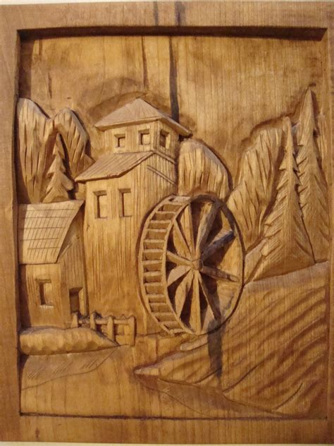 wood cutting templates dremel etched wood country mill and water wheel