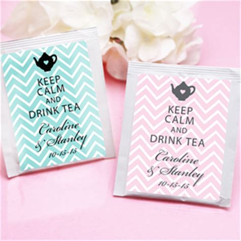 wedding favor tea bags 2 keep calm chevron personalized tea bag favor tea time