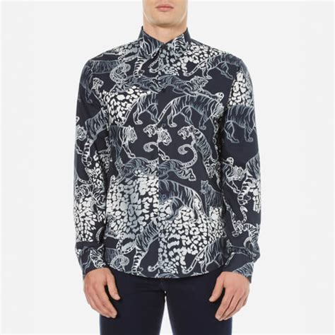 versace patterned jeans versace jeans men s all over patterned shirt blue mens
