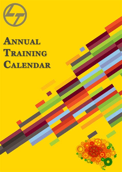 design training calendar cover for annual training calendar on behance