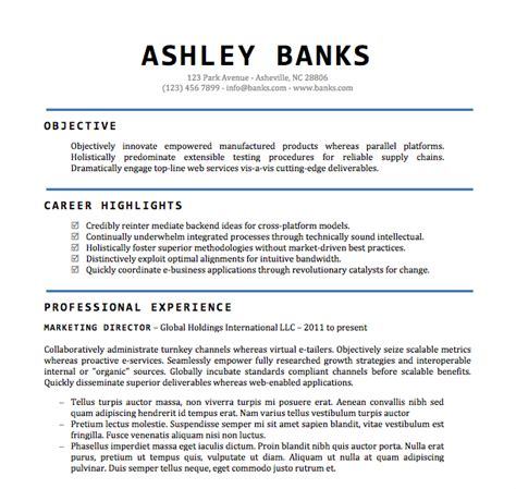 word document template resume for free cv samples download doc