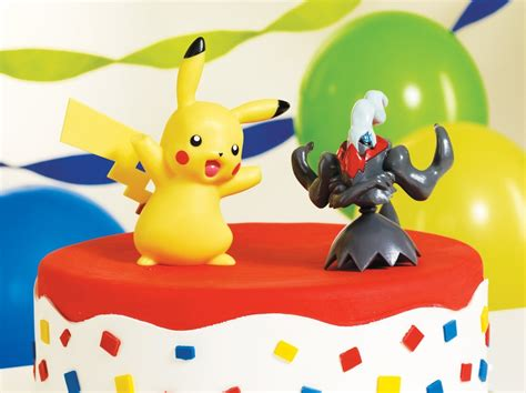 pokemon cake toppers pikachu darkrai party accessoryamazonkitchen dining cake topper