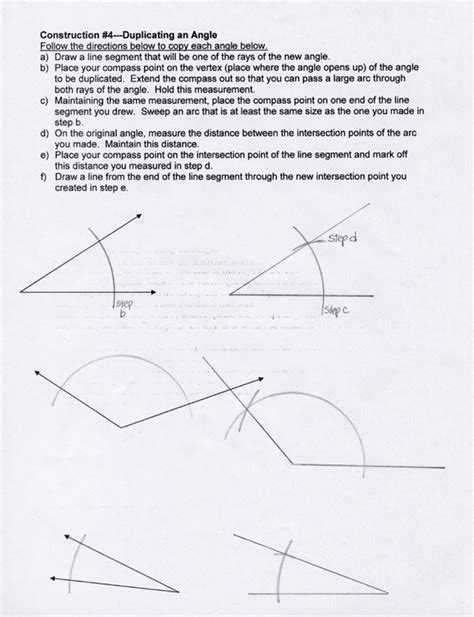 Geometric Constructions Worksheet by Kozmic Dreams High School Lesson Plans Level 2