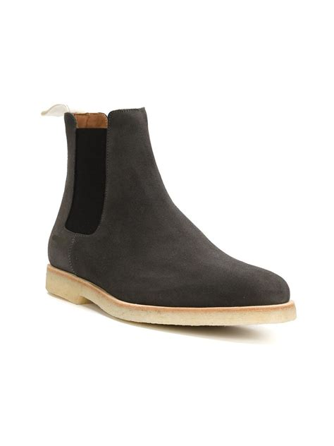 grey chelsea boots mens handmade mens gray chelsea boot mens gray crepe sole