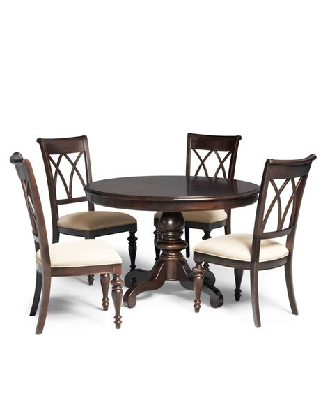Bradford 5 Piece Round Dining Room Furniture Set Bradford Dining Room Furniture