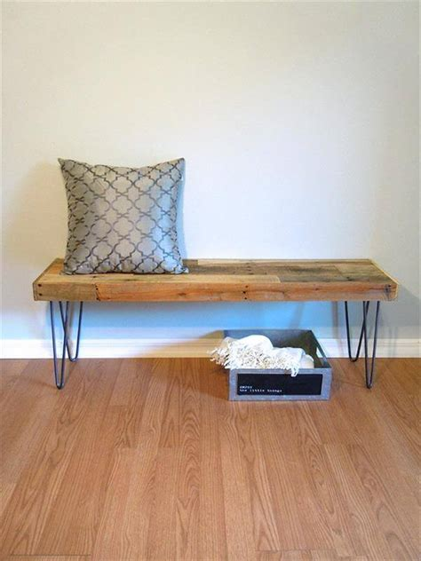 diy bench legs diy pallet bench with hairpin legs pallet furniture diy