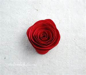 Rolled paper roses tutorial 010 creations by kara