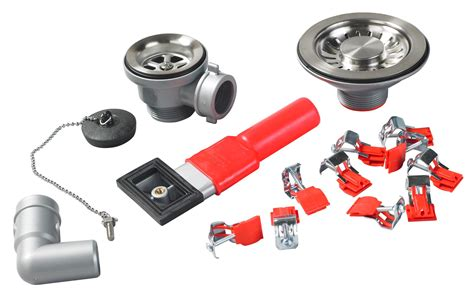 Franke erica red amp silver sink fixing kit departments diy at b amp q