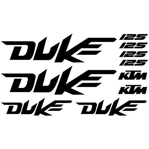 Ktm Aufkleber Duke by Wandtattoos Folies Ktm 125 Duke Aufkleber Set