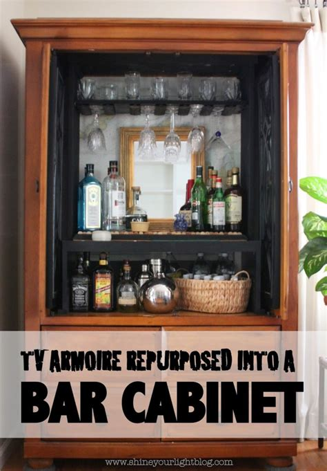 Entertainment Bar Cabinet Tv Armoire Turned Bar Cabinet Tv Armoire Beverage Center And Bay Windows