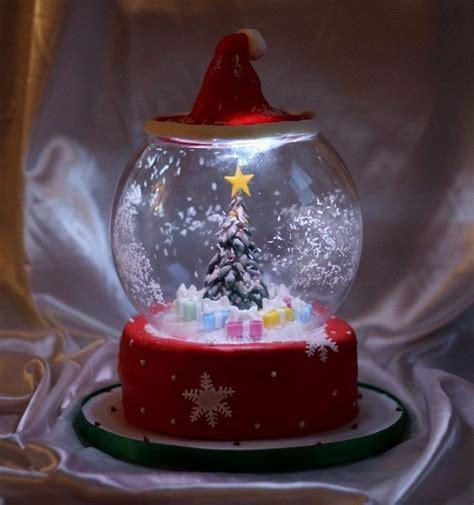 Awesome Snow Globe Cake With Led Lights Cake Decorating Light Cakes
