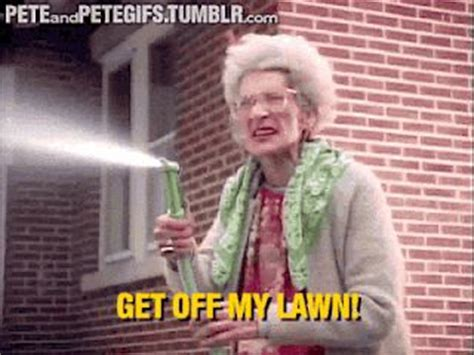Get Off My Lawn Meme - get off my lawn gif gifs galore and memes pinterest