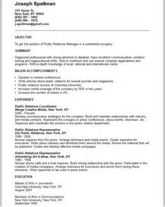Pr Resume Samples Public Relations Manager Resume Example Free Templates