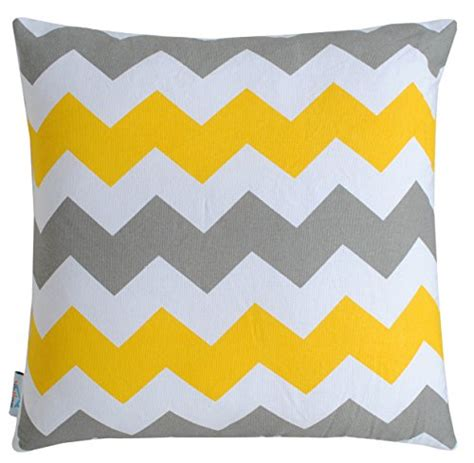 chevron couch cover throw pillow cover for sofa couch of 16 x 16 inches yellow