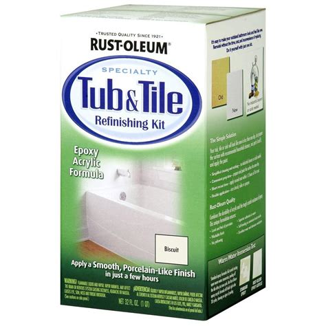 rustoleum bathtub paint reviews rust oleum specialty 1 qt biscuit tub and tile