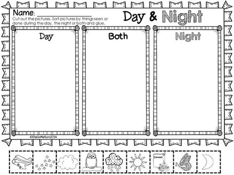 kindergarten activities day and night 18 best images of worksheets day and night sorting venn