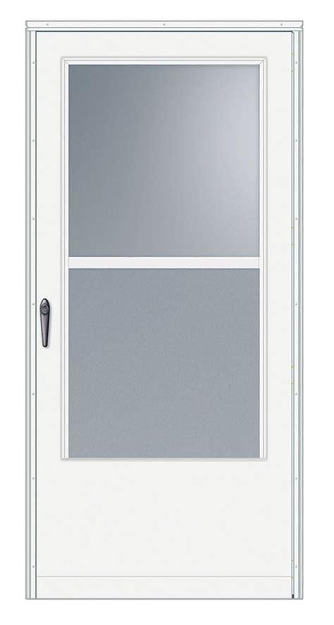 emco 32 inch width 100 series self storing white door