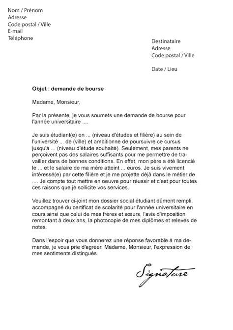 Exemple De Lettre De Motivation De Bourse Pdf Lettre De Demande De Bourse 201 Tudiante Mod 232 Le De Lettre