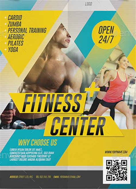 Attic Bedroom Ideas fitness center promotion flyer template download electro
