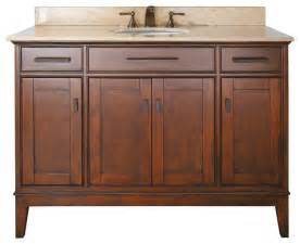 Madison 48 in vanity combo tobacco tropical bathroom vanities and