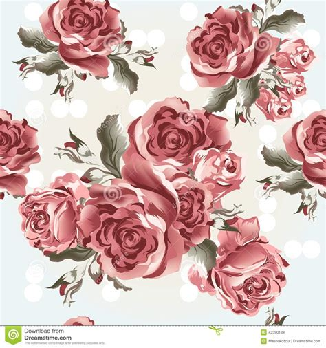 retro vintage rose flower brown home decor photo frame floral seamless vector wallpaper pattern with roses in