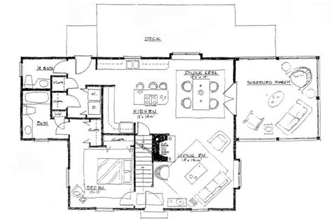 How To Draw Stairs In A Floor Plan screened porch house plans endless tranquility houz buzz