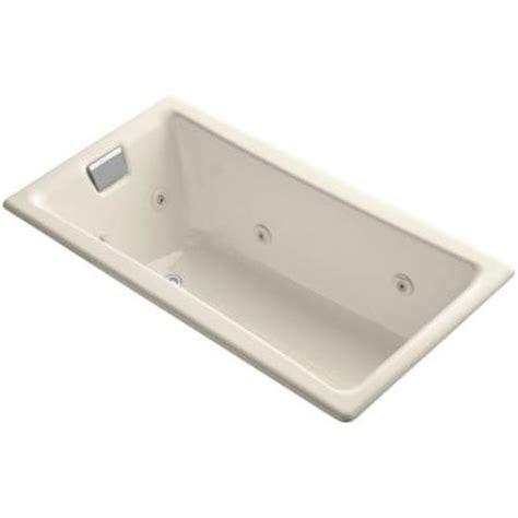 Tea For Two Bathtub by Kohler Tea For Two 5 Ft Whirlpool Bath Tub In Almond K