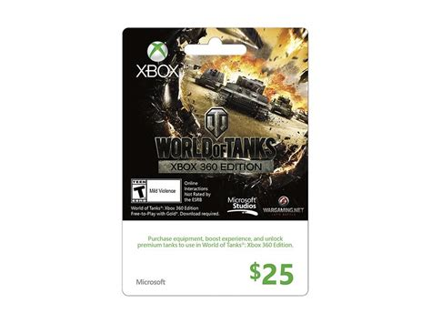 World Of Tanks Gift Cards - world of tanks live gift card 100 sek xbox 360 inet se