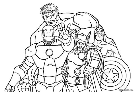 printable avengers coloring pages  kids coolbkids