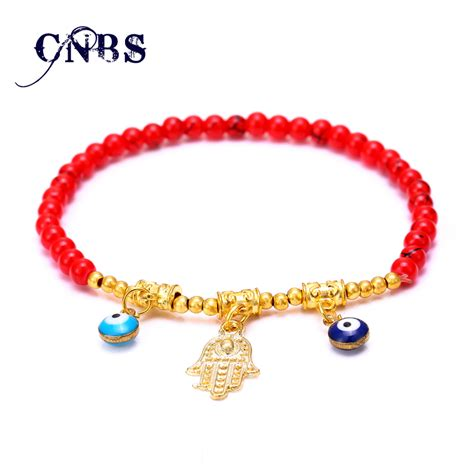 glass bead charm bracelet glass bracelet femme turkish jewelry gold charm