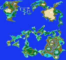Ff2 World Map by Final Fantasy 1 Gba Map Submited Images