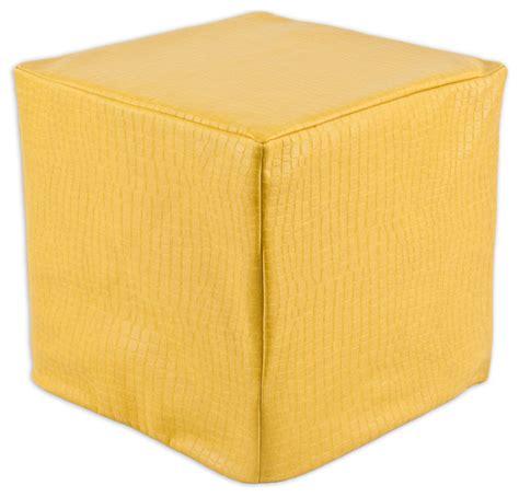 yellow square ottoman glade runner square seamed foam ottoman yellow 17