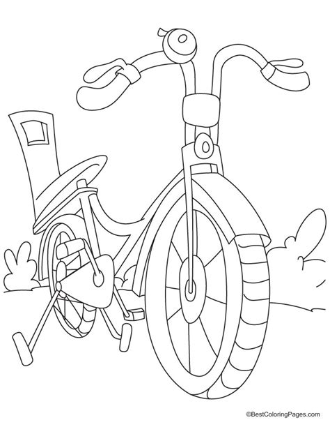 bicycle coloring pages preschool bike coloring pages az coloring pages