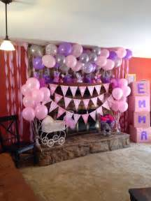 pink and purple baby shower baby shower