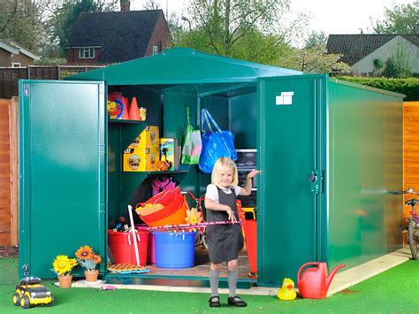 Playground Storage Sheds by School Storage With Screws For Safety Asgard