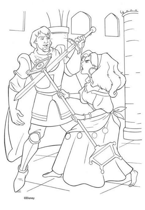 disney esmeralda coloring page esmeralda and phoebus 2 coloring pages hellokids com