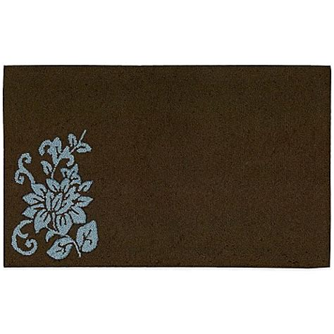 Brown Kitchen Rugs Nourison Solid Floral 33 Inch X 20 Inch Kitchen Rug In