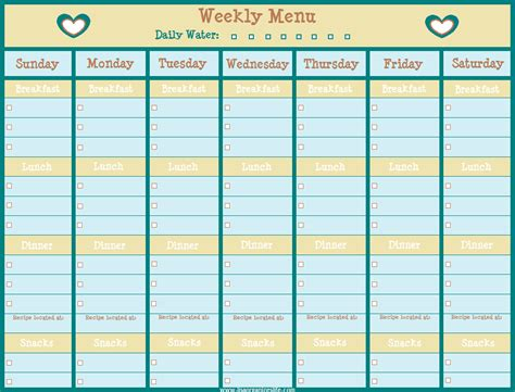 printable blank monthly menu planner search results for menu plan weekly blank calendar 2015