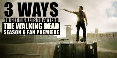 The Walking Dead Fan Sweepstakes - 3 ways to get tickets to attend the walking dead season 6 fan premiere