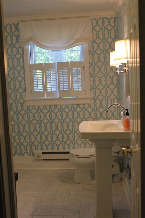 westhton diy how to stencil a room powder room remodel - Powder Room Remodel Cost