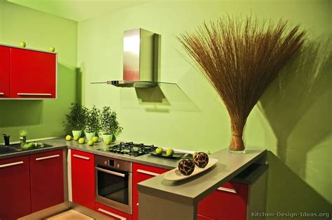 Green And Red Kitchen Ideas | pictures of kitchens modern red kitchen cabinets