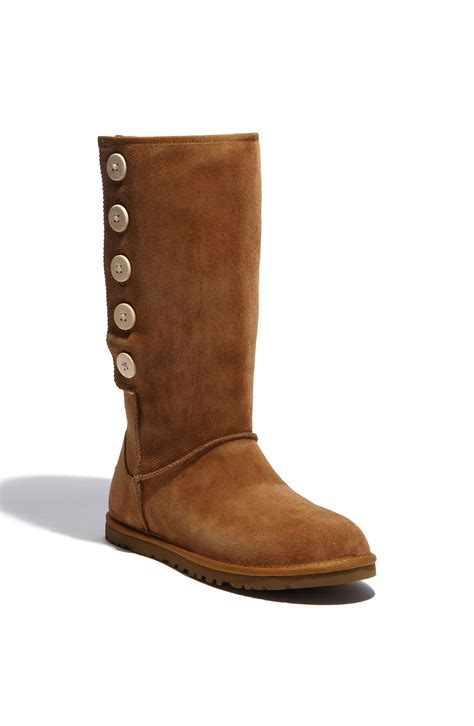 ugg lo pro suede boot in brown chestnut lyst