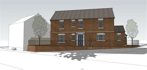 new build georgian inspired house leaf architecture georgian inspired new build corner plot leaf architecture