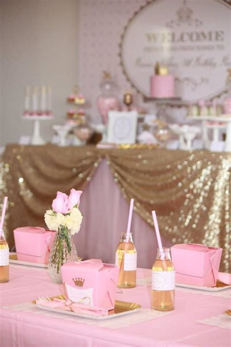 Pink And Gold Baby Shower Decor by Kara S Ideas Pink Gold Royal Princess Planning