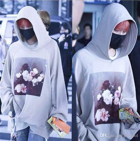 Hoodie Bigbang 01 2018 gd g bigbang sweatshirts gray jacket patch printing hooded sweater cotton