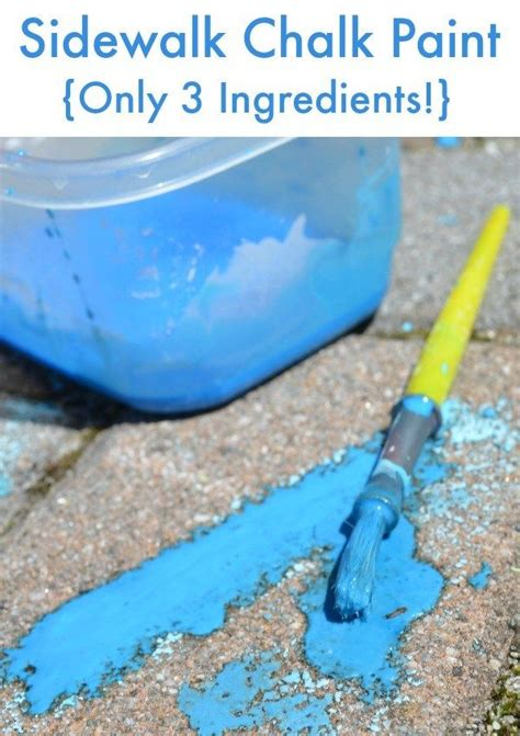 diy sidewalk chalk paint recipe 264 best activities for scouts images on