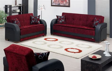 sofa bed and sofa set sale 1658 00 paterson 3 pc black and burgundy sofa set