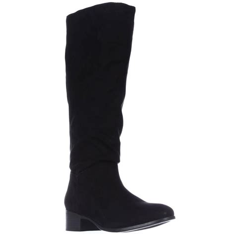 madden persis flat knee high boots black