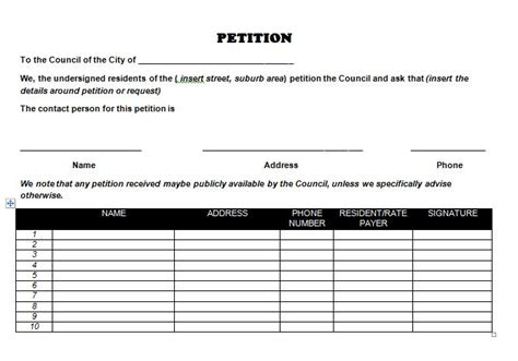 30 Petition Templates How To Write Petition Guide Petition Exle Template