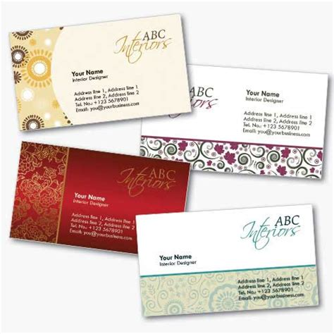 interior design business card templates free mike tyson tattoos business card design template